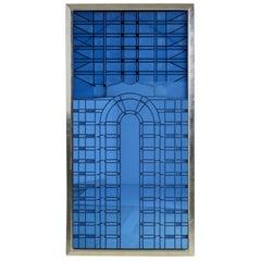 Art Deco Style Framed Glass Mirror Panel
