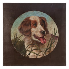 Portrait of Hunting Dog Oil Painting on Canvas