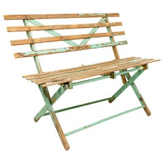 American Country Outdoor Folding Bench