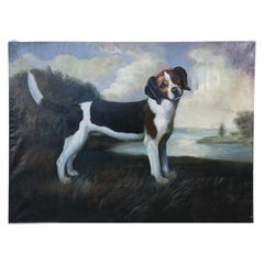 Portrait of a Beagle Oil Painting on Canvas