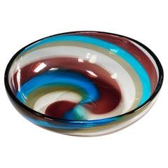 "Fulvio Bianconi ""A Fasce a Spirale"" Bowl for Venini ca. 1950s"