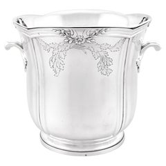 Antique French Silver Wine Cooler Circa 1905