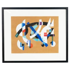 Contemporary Gouache Abstract Painting