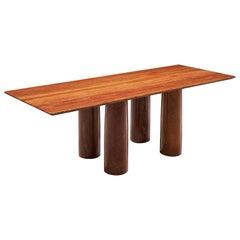 Mario Bellini 'Il Colonato' Red Travertine Table