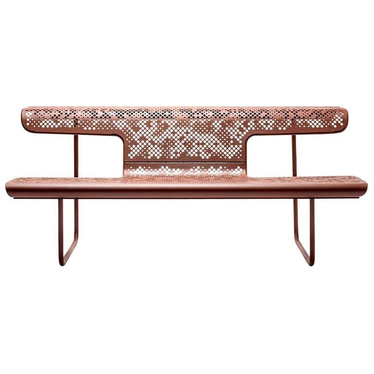 """Alfredo Häberli Contemporary Interior and Exterior 'Swiss Bench', """"The Poet"""" For Sale"""