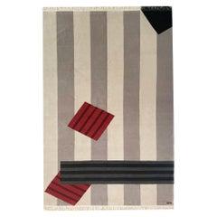 Art Money Red Big - Geometric Neutral Beige Off White Black Grey by Carpets CC