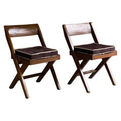 Pierre Jeanneret & Eulie Chowdhury Library Chairs Model PJEC-010301, Circa 1959