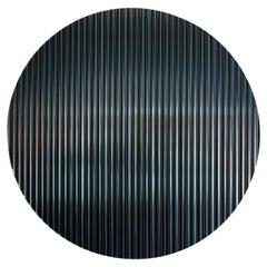 Color Shift Panel Round, Trichroic Black