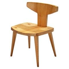 Jacob Kielland-Brandt Sculptural Chair in Solid Pine