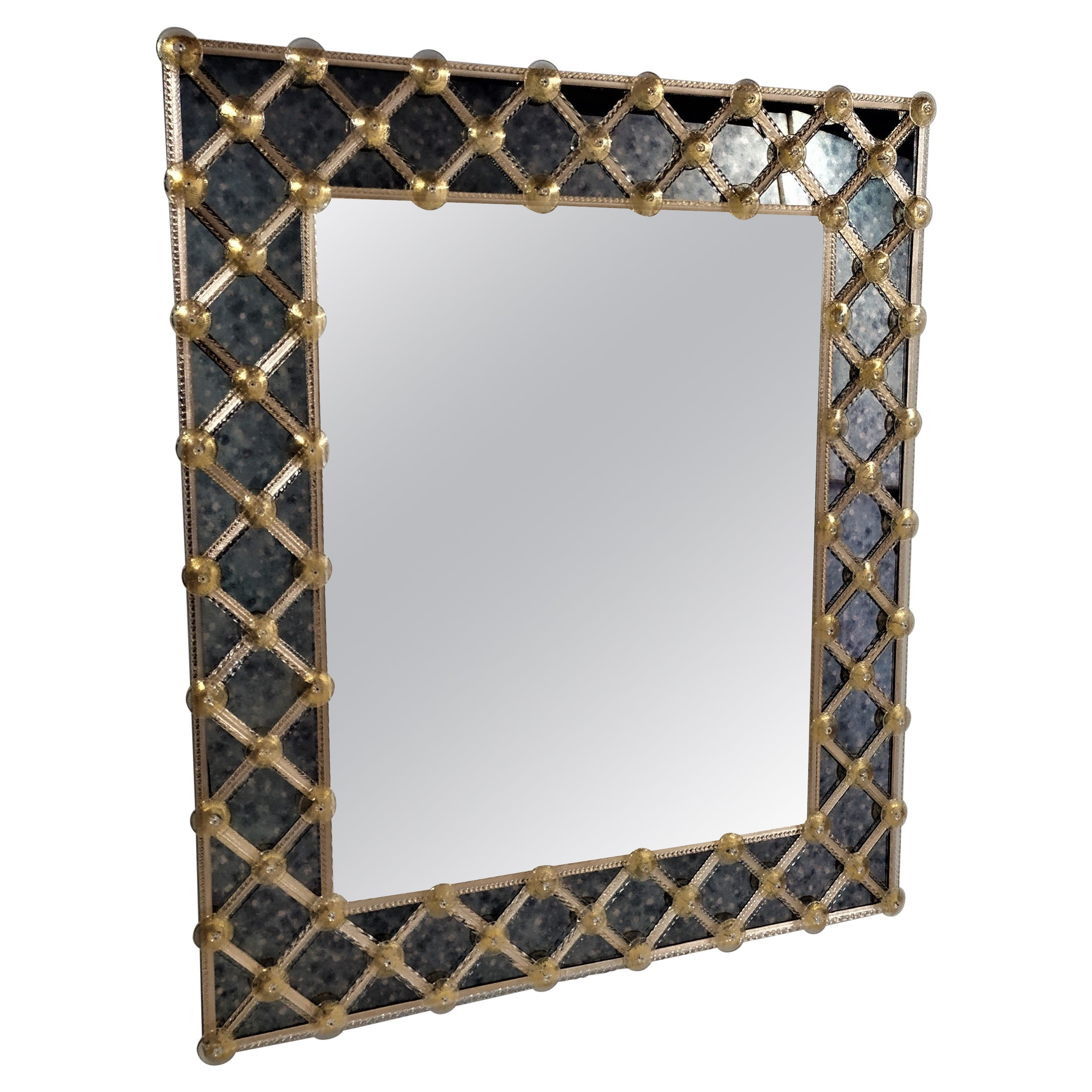 """""""CREME"""" Murano Glass Mirror, by Fratelli Tosi, Made in Italy"""