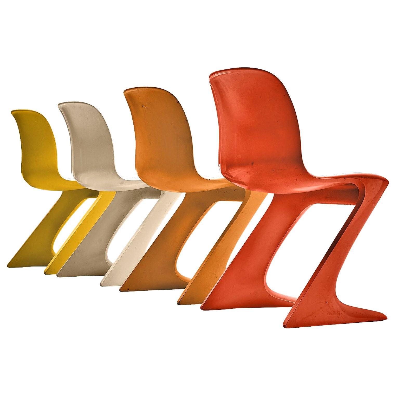 Ernst Moeckl Colorful 'Kangaroo' Chairs