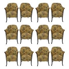 "Twelve of Giorgetti Italian Armchairs ""Progetti"", 1980s"
