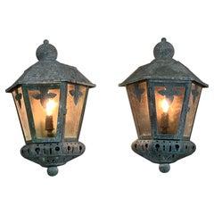 Pair of Vintage Wall Lantern