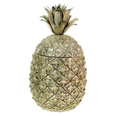 Pineapple Ice Bucket by Mauro Manetti for Fonderia D'Arte brass Mid-Century 1970