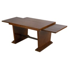 Art Deco Style Burl Wood Two Level Coffee Table