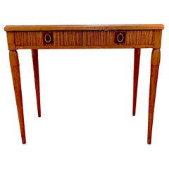 Art Deco 1930s Wood Brass Writing Table