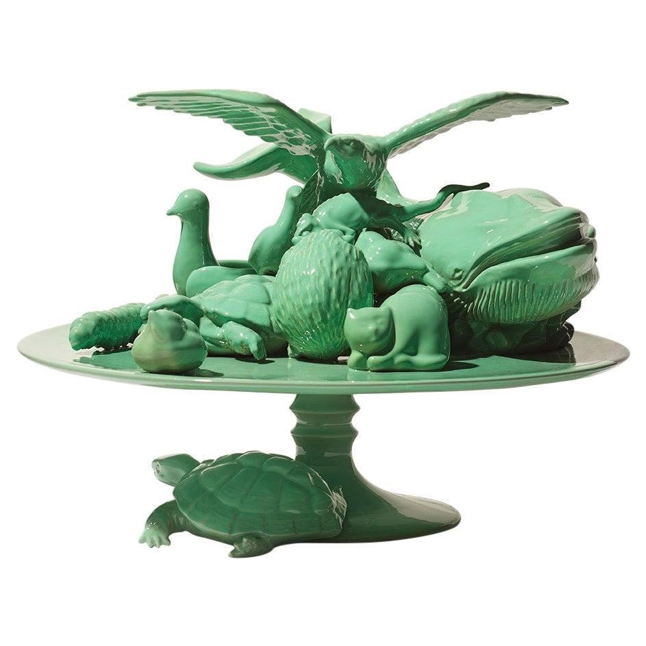 21st Century Green Sculpture by Ceramica Gatti, designer A. Anastasio