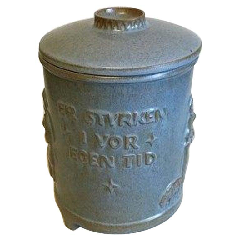 Anchor Cheramics Blue Stoneware Jar with Lid