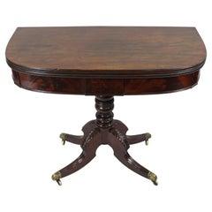 Regency Flame Mahogany Fold over Top Tea Table