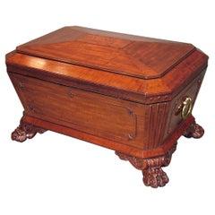 19th Century Regency Mahogany Sarcophagus-Shaped Wine Cooler