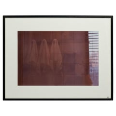 Double Exposure of a Person in a Bathroom
