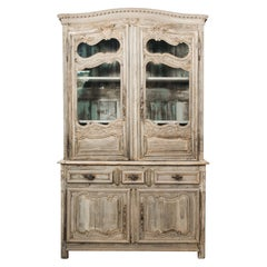 1800s Louis XV French Country Vitrine