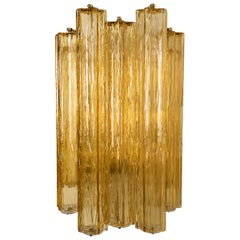 1 of the 3 Extra Large Wall Sconces or Wall Lights Murano Glass, Barovier & Toso