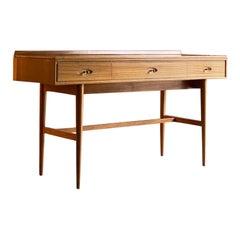 Robert Heritage Hamilton Teak Console Table Desk by Archie Shine England c.1969