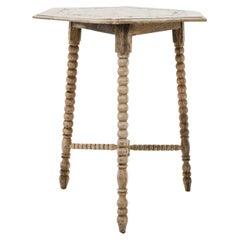 1960s Belgian Bleached Oak Side Table