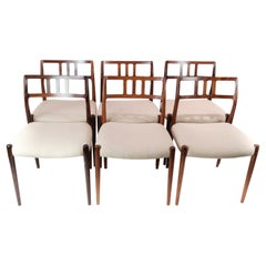 Set of Six Dining Room Chairs, Model 79, Designed by N.O. Moeller, 1960s