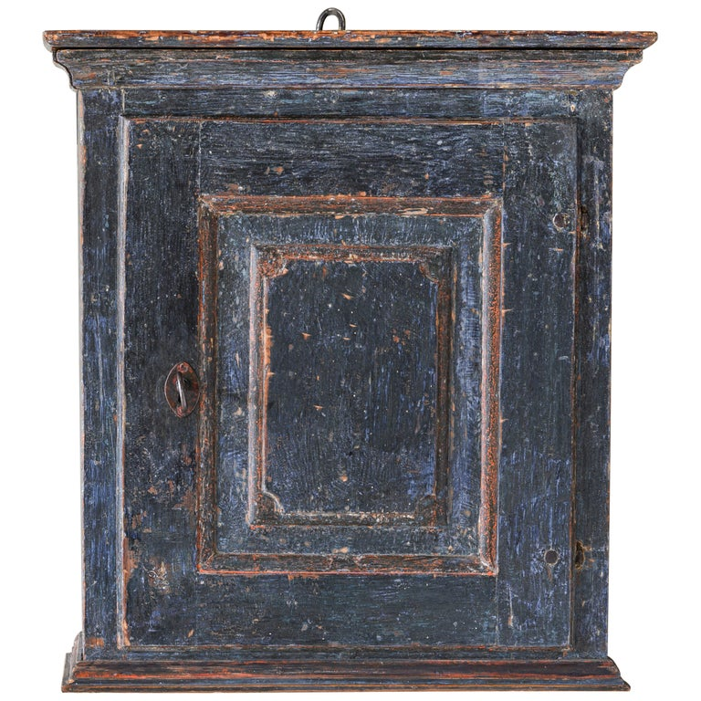 Fine 18th Century Provincial Gustavian Wall Cabinet For Sale