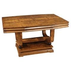 20th Century Wood Italian Art Deco Style Dining Table, 1950
