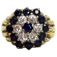 Sapphire & Diamond 18ct Cluster Ring