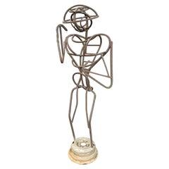 "A.R. Gately Metal Sculpture ""Bee Keeper"""