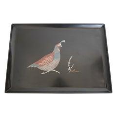 Vintage Couroc Bird Design Barware Serving Tray