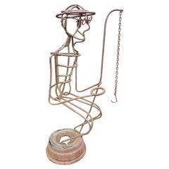 "A.R. Gately Metal Sculpture ""Fisherman"""