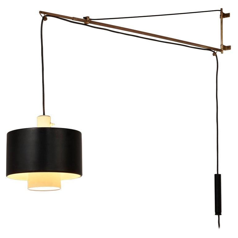 Early Gaetano Sciolari for Stilnovo Wall-Mounted Pendant Lamp Model '2061' For Sale