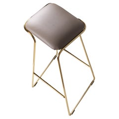 Seems Aureo Contemporary Gold Stool Made in Italy by LapiegaWD