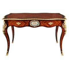 French 19th Century Louis XV Style Rosewood and Ormolu Center Table