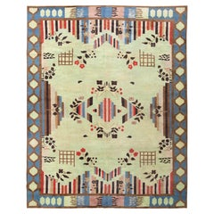 Vintage Art Deco Indian Rug. Size: 9 ft 2 in x 11 ft 10 in (2.79 m x 3.61 m)