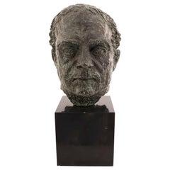 Bronze Bust of a Man's Head