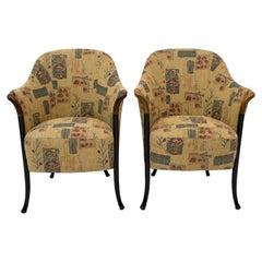 "Pair of Giorgetti Italian Armchairs ""Progetti"", 1980s"