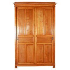 French Fruitwood Housekeepers Cupboard / Linen Press