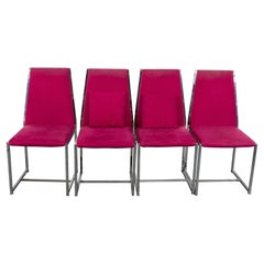 Modern Upholstered Aluminum Side Chairs