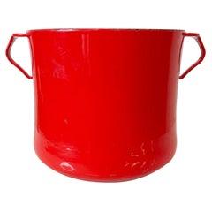 Dansk International Designs Red Enamel Dutch Oven Casserole Pot IHQ France