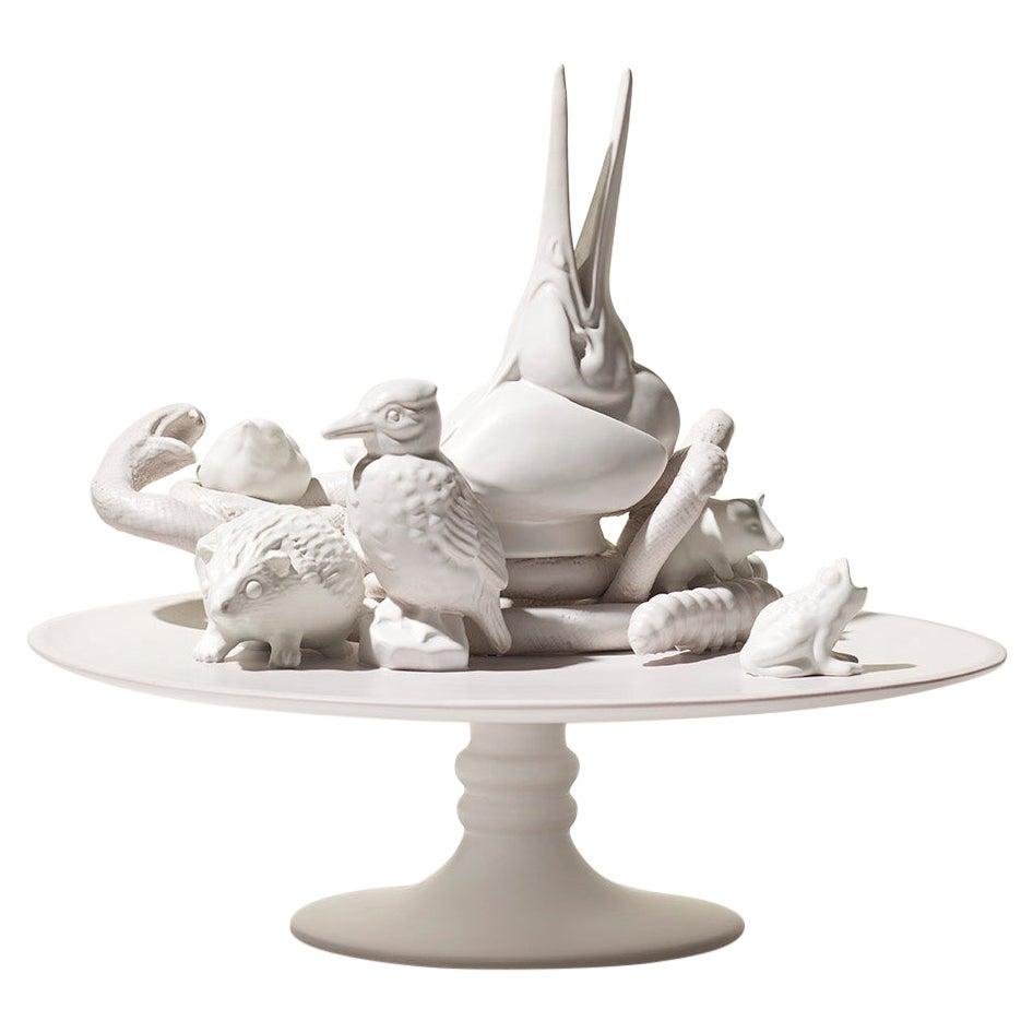 21st Century White Sculpture by Ceramica Gatti, designer A. Anastasio