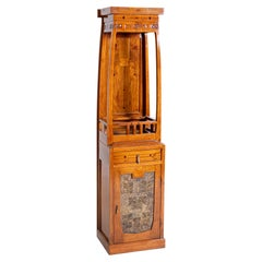 Antique France Liberty Cabinet in Painted Wood Art Nouveau