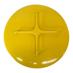 Dansk Designs Yellow Enamelware Casserole Cover Lid Trivet Top IHQ France 1960s