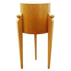 Postmodern Art Deco Style Wood Pedestal