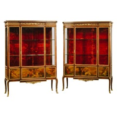 Pair of Transitional Style Vitrines by François Linke